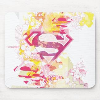 Logotipo retro de Supergirl Mousepads