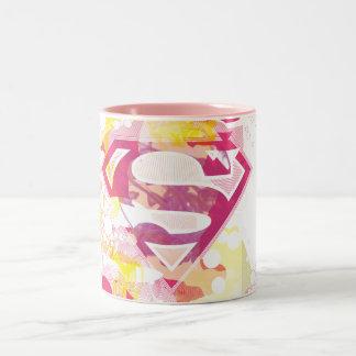 Logotipo retro de Supergirl Taza De Dos Tonos