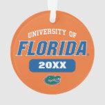 Logotipo retro del cocodrilo verde de UFL