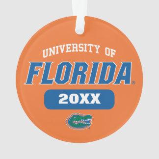Logotipo retro del cocodrilo verde del uF