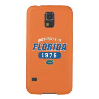 Logotipo retro del cocodrilo verde del uF Funda Para Galaxy S5