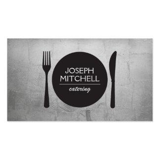 Logotipo retro para los cocineros, abastecimiento, tarjetas de visita