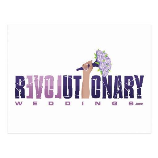 Logotipo revolucionario de Weddings_final Postales