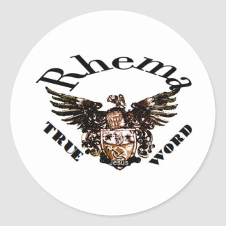 Logotipo Rhema Pegatina Redonda