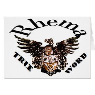 Logotipo Rhema Tarjeta De Felicitación