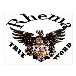 Logotipo Rhema Postales