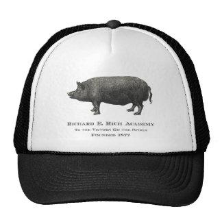 Logotipo rico del cerdo de la academia de Richard Gorras