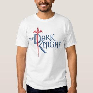 Logotipo rojo conocido oscuro de la espada del remera