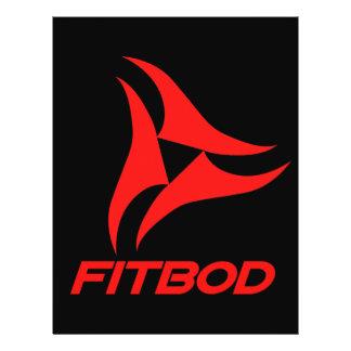 """Logotipo rojo de la aptitud de FITBOD Folleto 8.5"""" X 11"""""""
