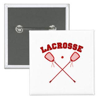 Logotipo rojo de LaCrosse Pin Cuadrada 5 Cm