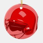 logotipo rojo del casco del béisbol ornato