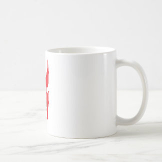Logotipo rojo del dragón taza clásica