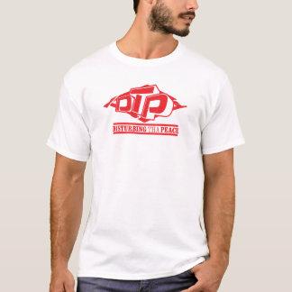 Logotipo rojo del DTP en la camiseta para hombre