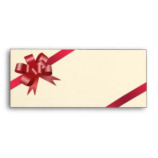 Logotipo rojo del negocio del regalo de vacaciones sobres