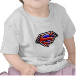 Logotipo rojo del superhombre del aerógrafo camiseta