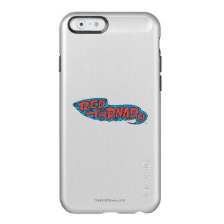 Logotipo rojo del tornado funda para iPhone 6 plus incipio feather shine