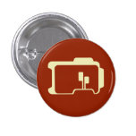 Logotipo (rojo oscuro) pin