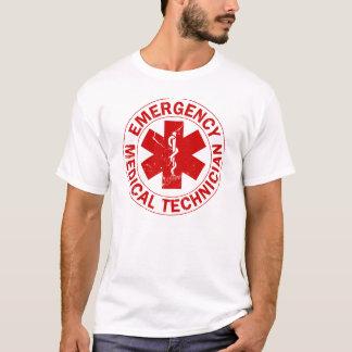 Logotipo rojo torcido EMT Playera