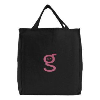 Logotipo rosado bordado del bolso w bolsas