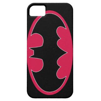Logotipo rosado de Batman iPhone 5 Case-Mate Cobertura