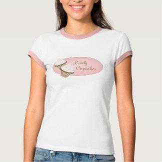 Logotipo rosado de la magdalena remeras
