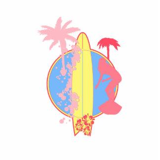 Logotipo rosado de la resaca del chica esculturas fotograficas