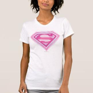 Logotipo rosado de Supergirl Camisetas