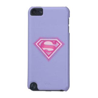 Logotipo rosado de Supergirl Funda Para iPod Touch 5G