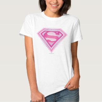 Logotipo rosado de Supergirl Polera