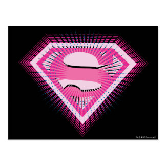 Logotipo rosado de Supergirl Postal
