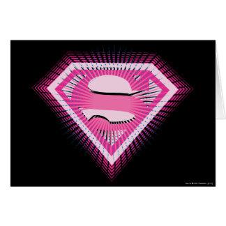 Logotipo rosado de Supergirl Tarjeta De Felicitación