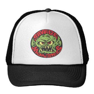 Logotipo salvaje de los monstruos gorros bordados