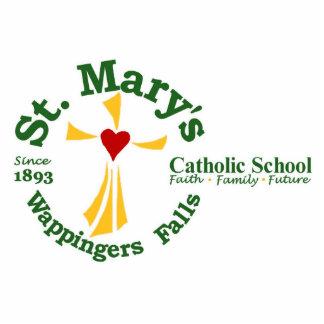 Logotipo Scupture de la escuela católica de St Fotoescultura Vertical