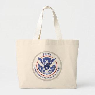 Logotipo/sello tácticos de la agencia de la emerge bolsa de mano