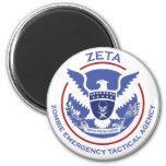 Logotipo/sello tácticos de la agencia de la emerge iman para frigorífico