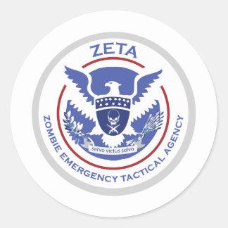 Logotipo/sello tácticos de la agencia de la pegatina redonda
