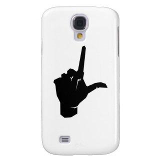 Logotipo social de la mano del solitario funda para galaxy s4