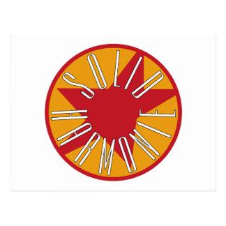 Logotipo sólido de la obra clásica de HarmoniE Postal