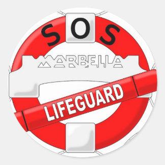 logotipo_sosmarbella classic round sticker