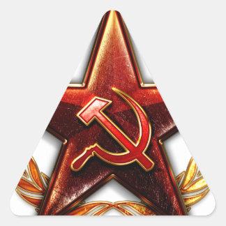 Logotipo soviético calcomanía de triangulo personalizadas