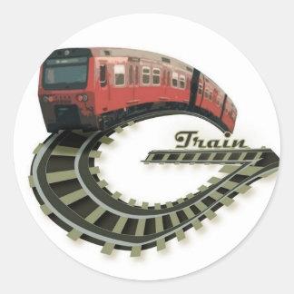 Logotipo Sricker del tren de G Pegatina Redonda