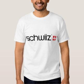 Logotipo suizo del estilo del logotipo de SWATCH y Remeras