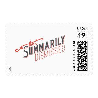 Logotipo sumario despedido del funcionario sellos