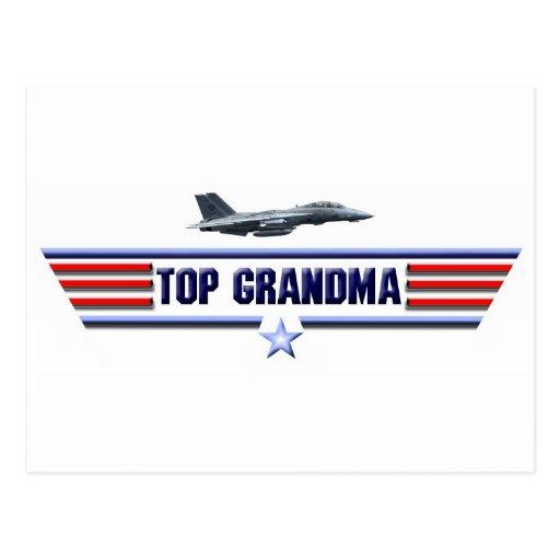 Logotipo superior de la abuela postales