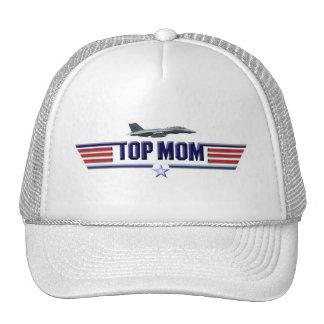 Logotipo superior de la mamá gorras de camionero