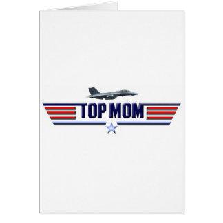 Logotipo superior de la mamá tarjeta de felicitación