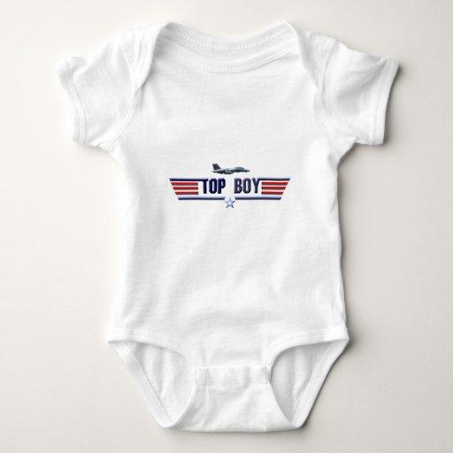 Logotipo superior del muchacho body para bebé