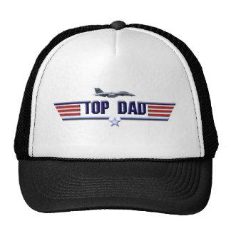 Logotipo superior del papá gorro de camionero