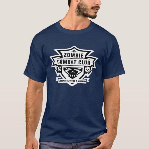 Logotipo T del club del combate del zombi Playera