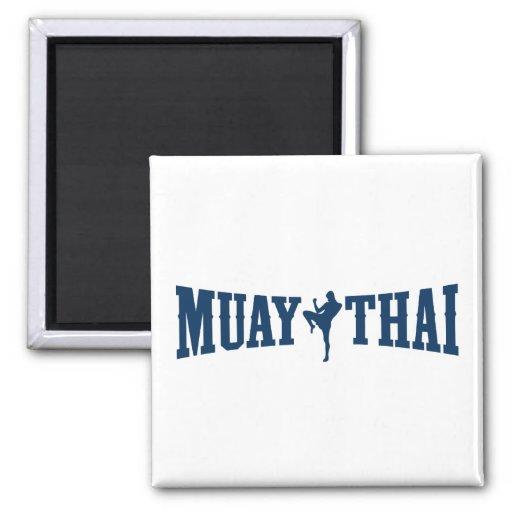 Logotipo tailandés de Muay Imán Cuadrado
